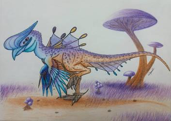 Theropod-like Alien creature