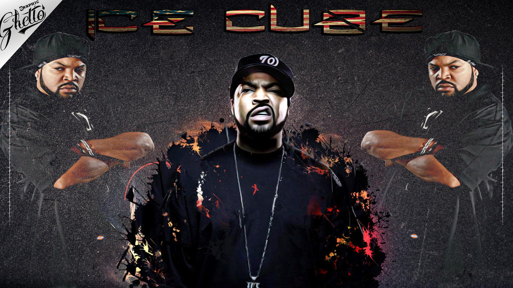 ICE CUBE WALLPAPER DESING By Ghettolife