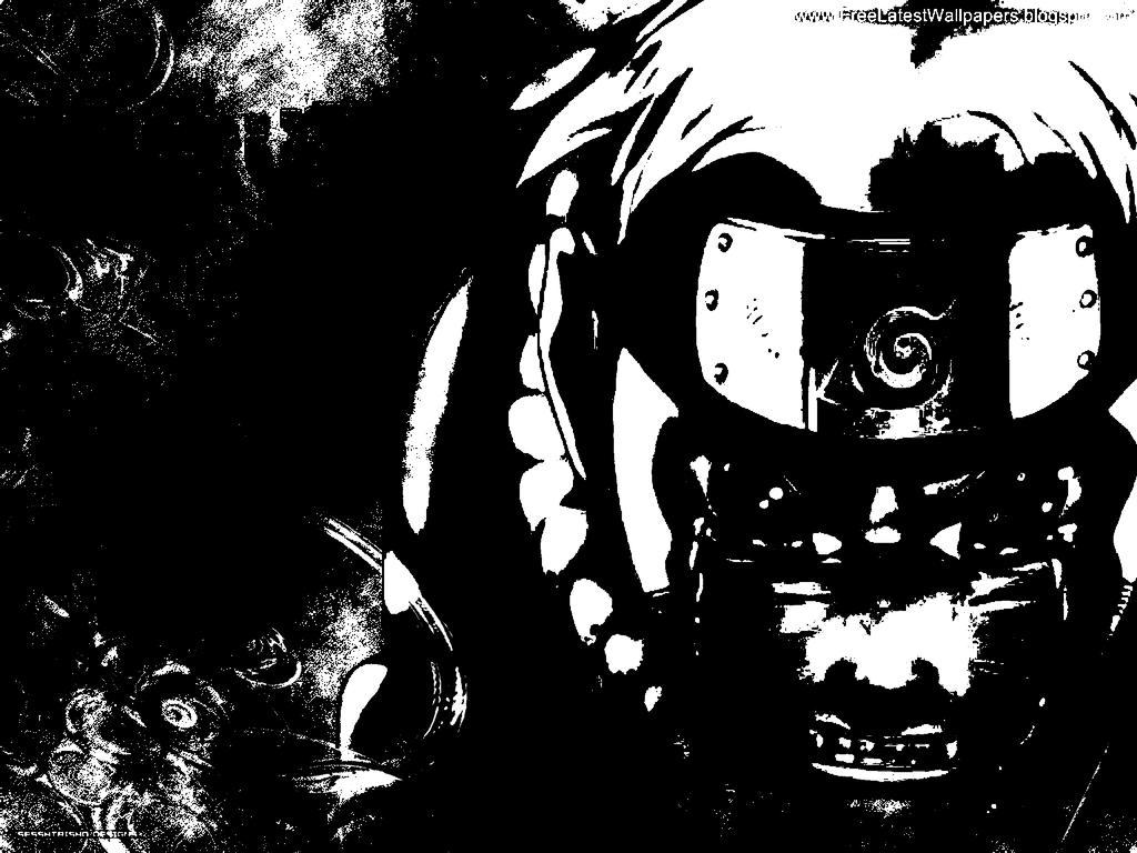 Naruto Uzumaki Black And White HD Art By Animeker On