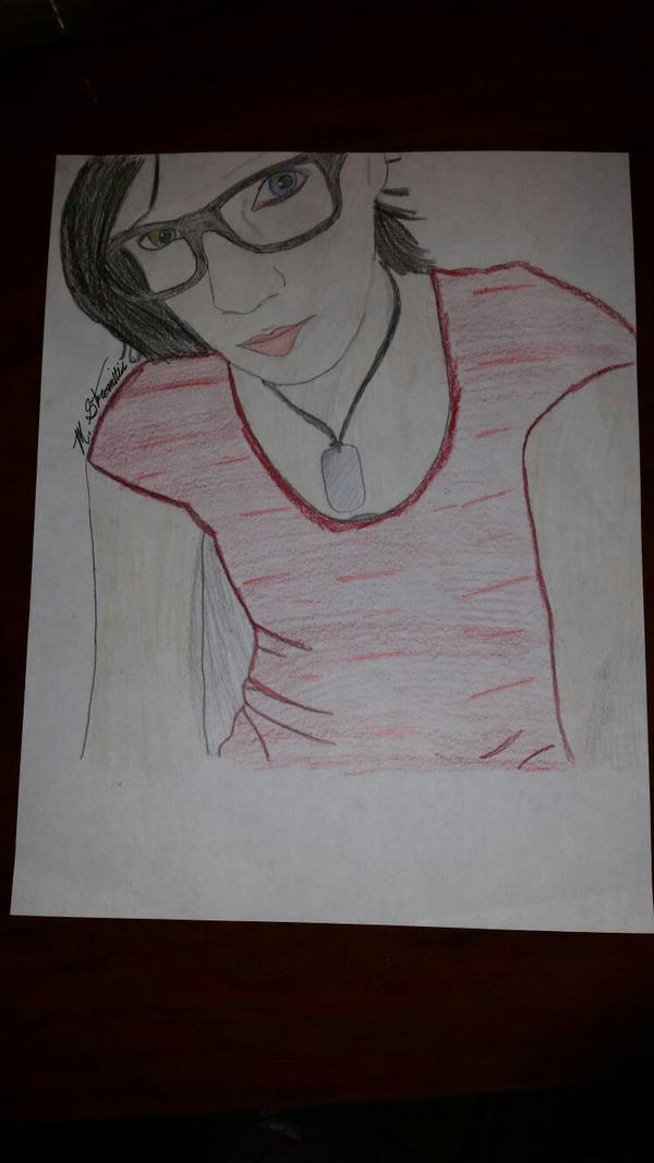 self drawing  by Kenziecreepypasta
