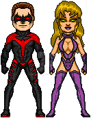 Nightwing and Starfire by LordKal-El