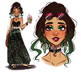 Adoptable: Green Girl (CLOSED)