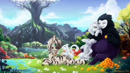 zebra-ori-foxy-Naru by Ashley-Arctic-Fox
