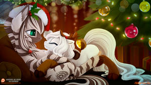 Merry Christmas from ArcticFox and Zebra - 2016 by Ashley-Arctic-Fox