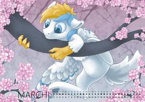 Pony calendar 2017 - March by Ashley-Arctic-Fox