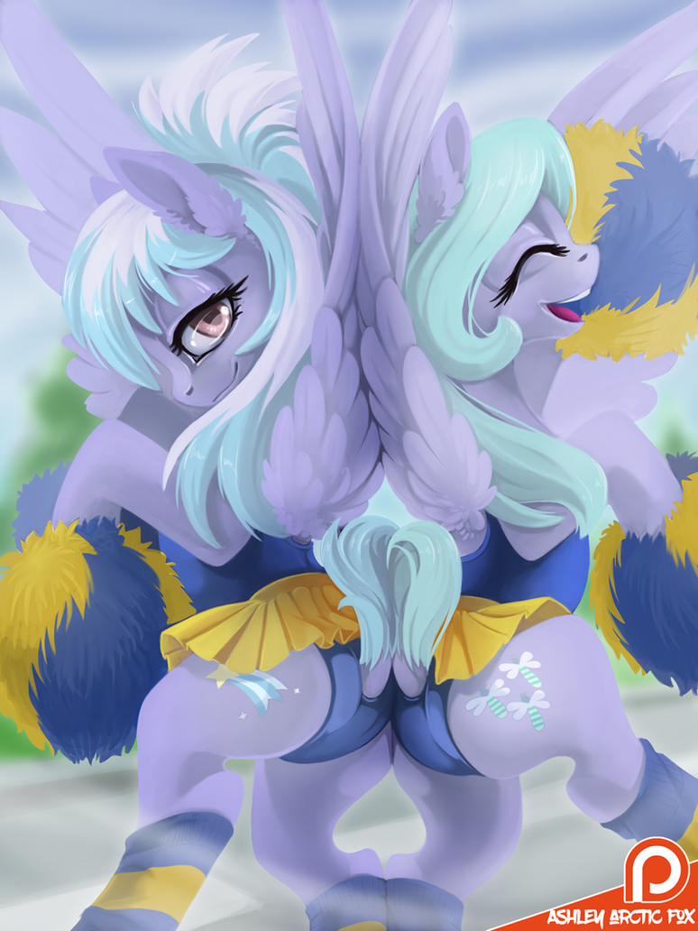 Flitter and Cloudchaser  2017 by Ashley-Arctic-Fox