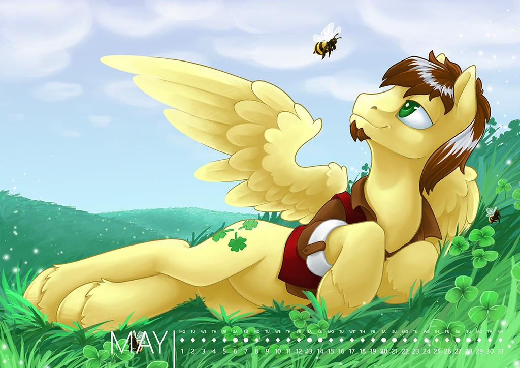 Pony calendar 2017 - May by Ashley-Arctic-Fox