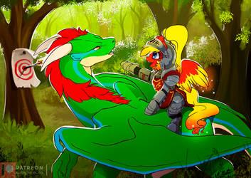 Knights dragons by Ashley-Arctic-Fox