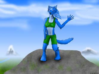 Anthro Wolf by Seb-Eisdrache