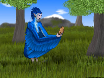 Harpy with Cookie by Seb-Eisdrache