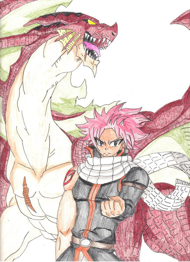 Igneel and Natsu by michaelthedragon39