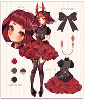 Adoptable #17 Red Lace   Set Price [CLOSED]