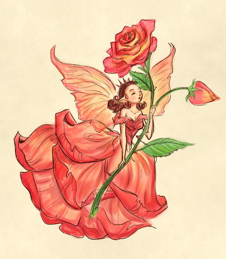 casey robin inspired rose fairy by superkeen on deviantart. Black Bedroom Furniture Sets. Home Design Ideas