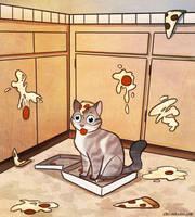 Gato Loves Pizza by autogatos