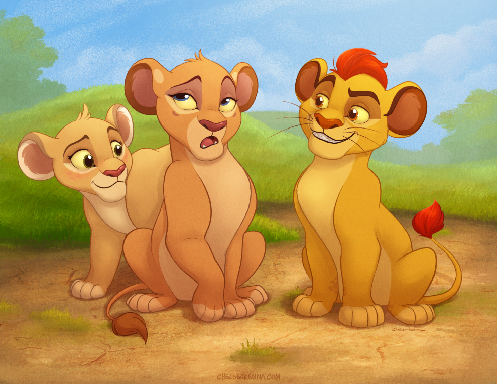 Kion and the girls by autogatos on deviantart - Kion le roi lion ...