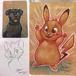 Wondercon and ECCC 2017 Sketches