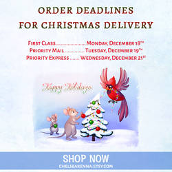 Etsy Shop Christmas Order Deadlines!
