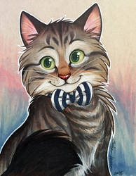 Etsy Marker Commission: Cat with Bowtie