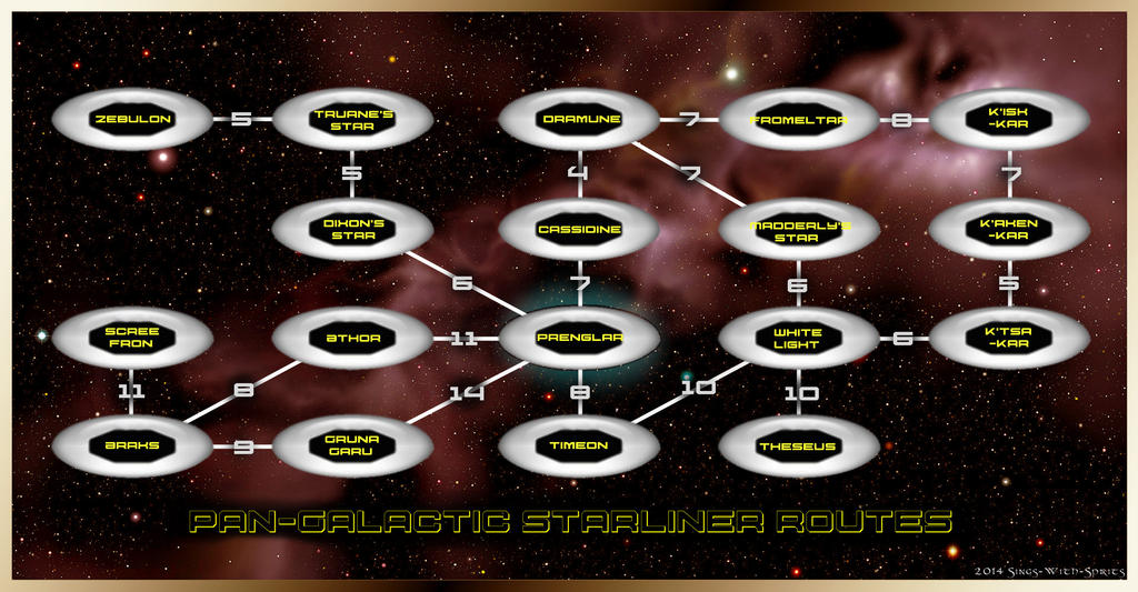 Star Frontiers Alpha Dawn Starliner Map by Sings-With-Spirits