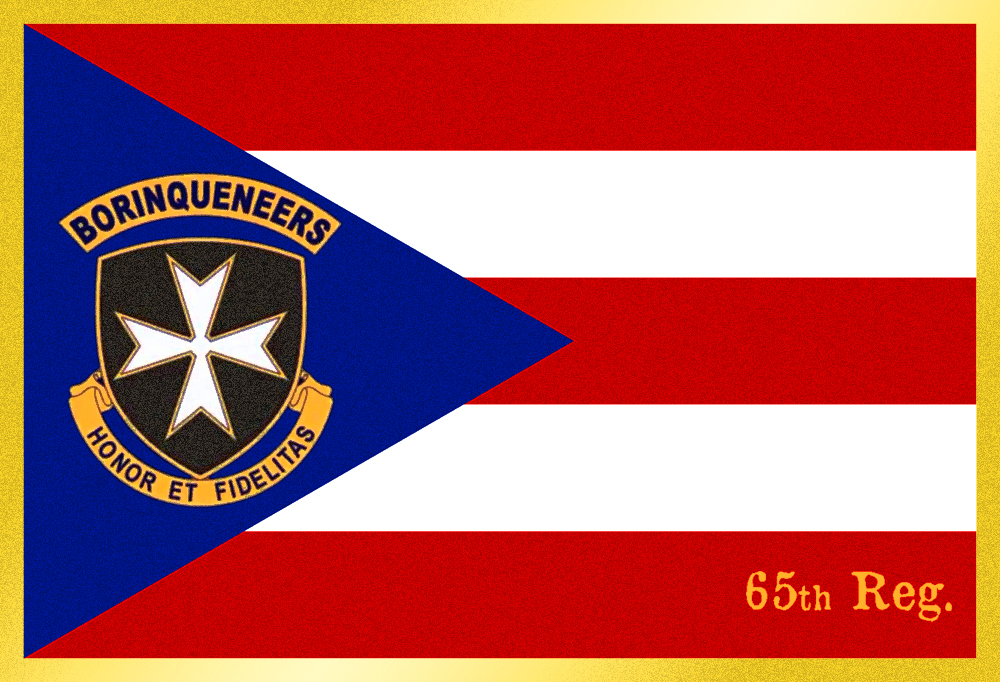 65th Infantry Regiment - Borinqueneers Flag by Sings-With-Spirits