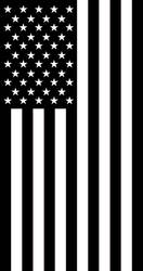 US Flag Vertical display mourning