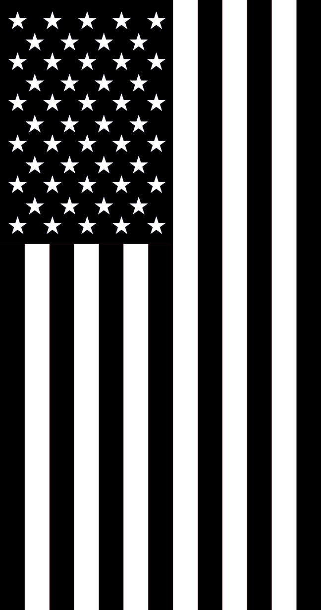 US Flag Vertical display mourning by Sings-With-Spirits