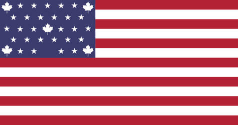 Flag of the UCAS (alternate star arrangement 01)
