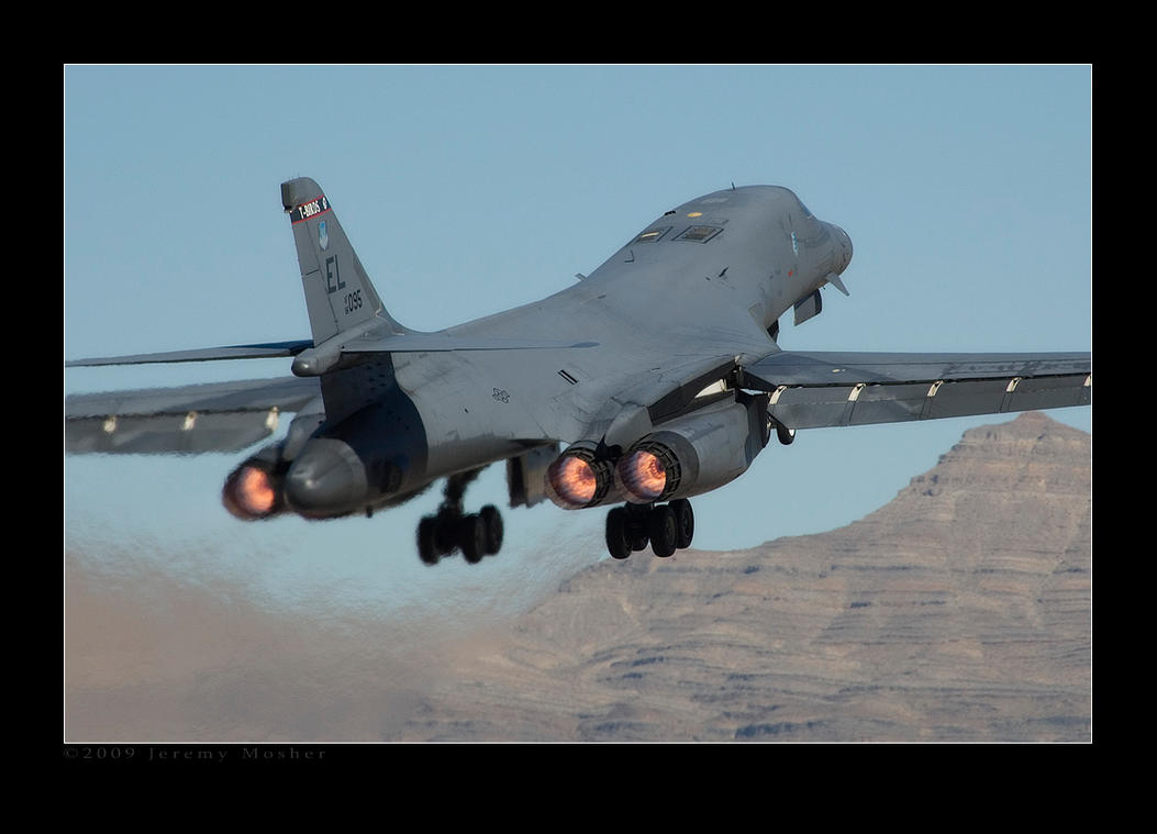 B-1 Departure by jdmimages
