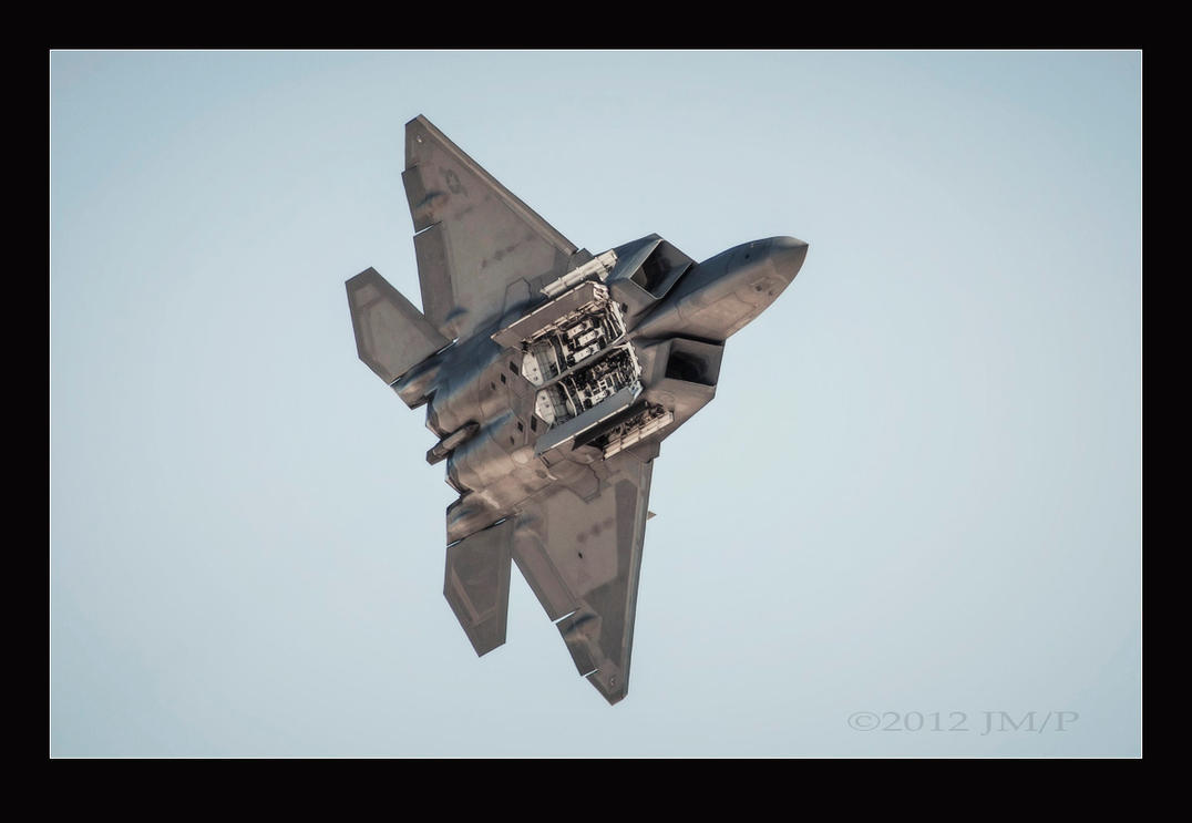F22 Nellis Open Bay Flyby by jdmimages
