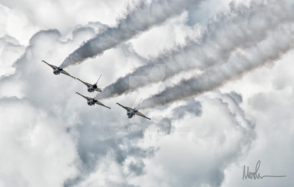 Thunderbirds with Clouds by jdmimages