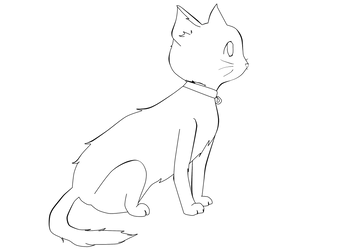 Free Cat lineart by GrishiedaFishie