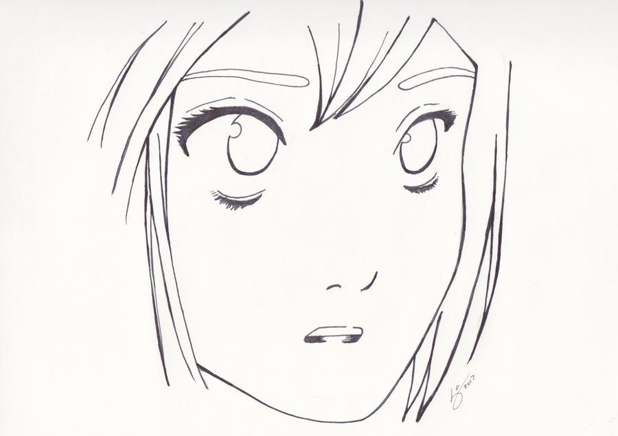 Manga face sketch by mongoft