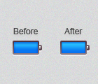 Battery icon improved by kevinS555