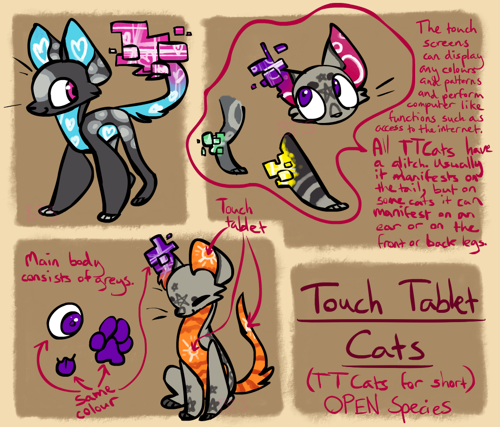 Touch Tablet Cats - Open Species by ThisAccountIsDead462 ...