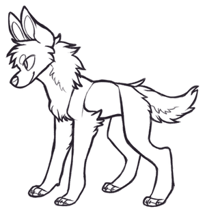 FREE Canine(?) Lineart