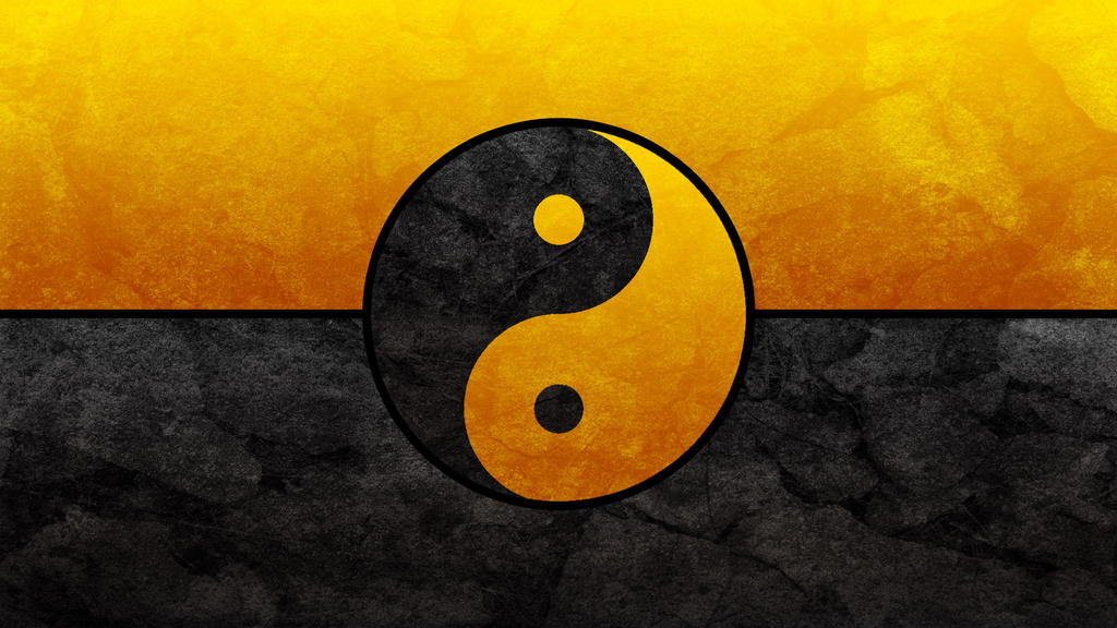 Black and Gold Yin Yang by Dynamicz34