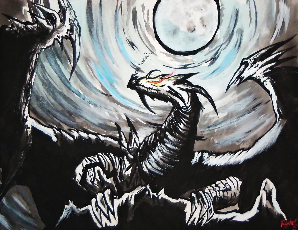 Cold Blue Moon Dragon by Ryder-Sechrest