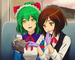 Yuna and Shiori by TsunaKisuke