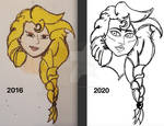Ara's Portrait: Before and After