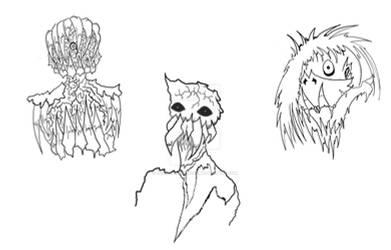 Monster Portrait Sketches # 1