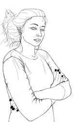 Self Portrait #2 10 minute sketch