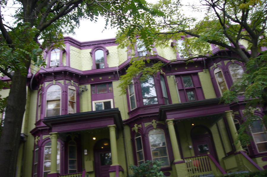 Greene and greene houses - Amazing Green And Purple House By Stripes Of Lightning On Deviantart
