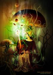 fantasy maiden mushrooms by sunjaya
