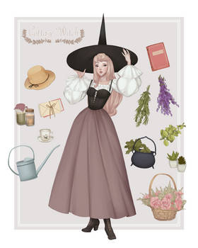 Aurora as a Cottage Witch