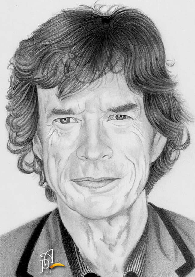 Mick Jagger (The Rolling Stone) by ArtePau2000