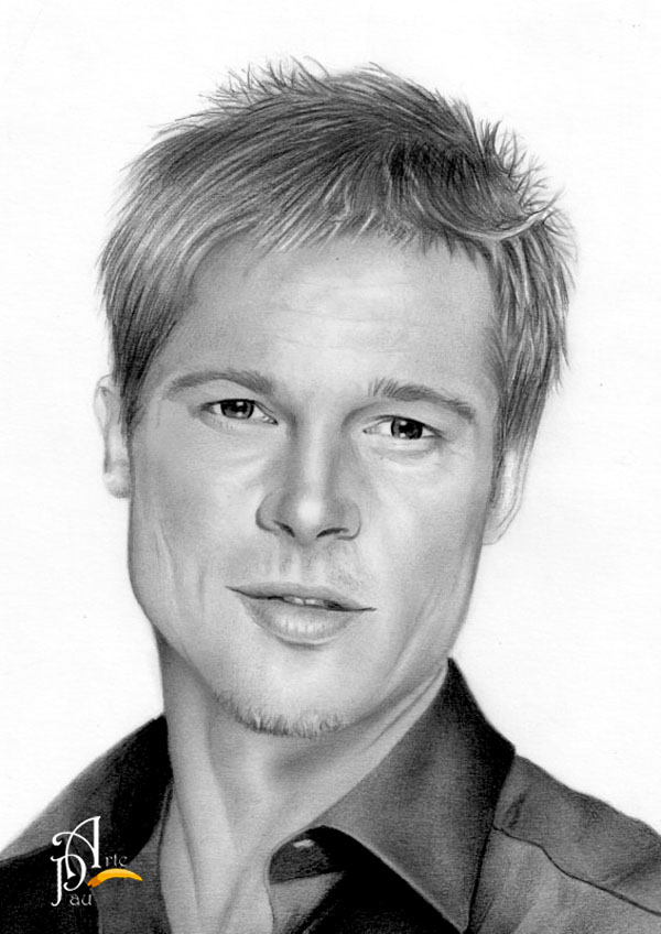 Brad Pitt by ArtePau2000