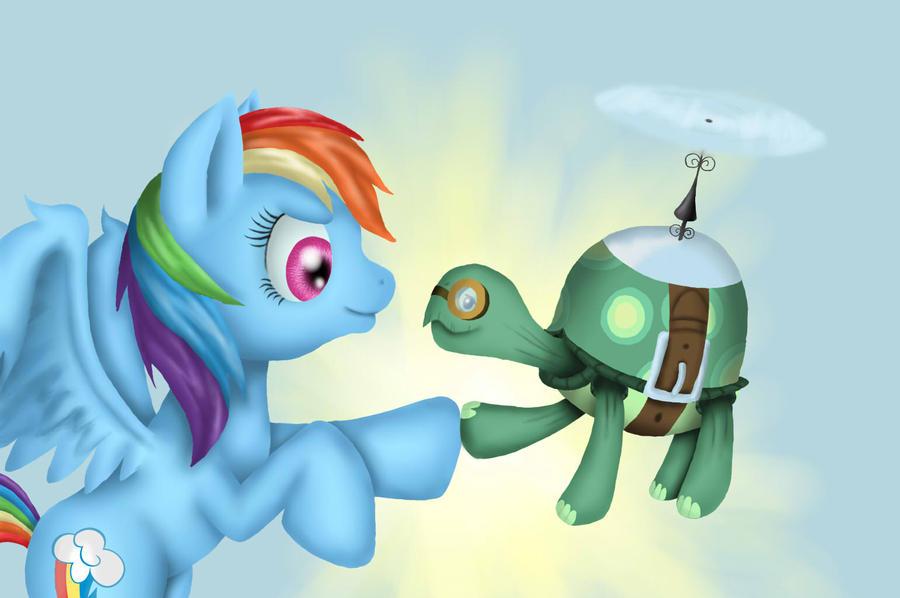 Rainbow Dash and Tank by Tomatobox96