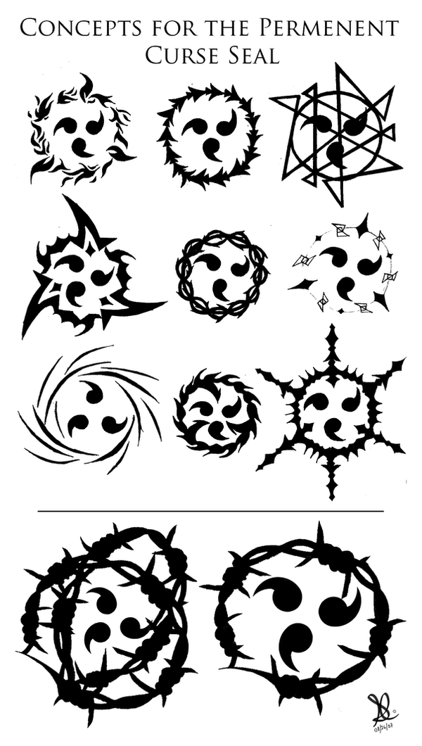 Curse Seal Concepts By Obsidiansickle On Deviantart