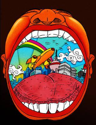 big mouth by wajog