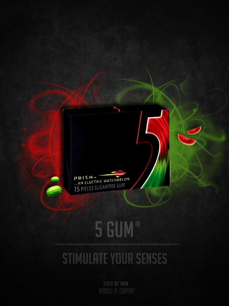 5 Gum Advertisement 5 Gum Prism Advertisement by